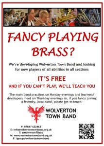 Wolverton Town Band Recruitment Poster